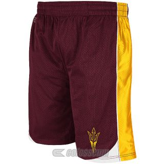 COLOSSEUM Mens Arizona State Sun Devils Vector Shorts   Size Small, Maroon
