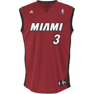adidas Youth Miami Heat Dwayne Wade Alternate Replica Road Jersey   Size Large,