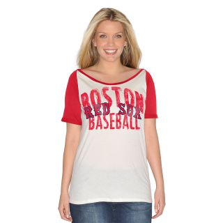 G III Womens Boston Red Sox Dinger Short Sleeve T Shirt   Size Medium