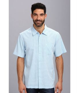 Quiksilver Waterman Pavones S/S Shirt Mens Short Sleeve Button Up (Blue)