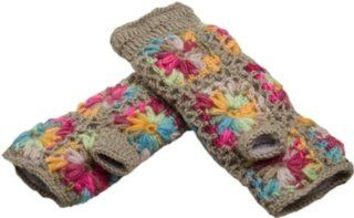 Nirvanna Designs MT13F ML Multi Color Flower Crochet Hand Warmers, Grey Multi  Alpine Skiing Equipment  Sports & Outdoors