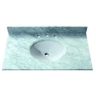 Avanity 37 in. Marble Stone Vanity Top in Carrera White with no Basin Included SUT37CW