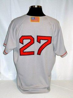 Carlton Fisk Boston Red Sox Authentic Grey Away Jersey w/ 1999 All Star Patch Sports Collectibles
