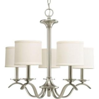 Progress Lighting Inspire Collection 5 Light Brushed Nickel Chandelier P4635 09