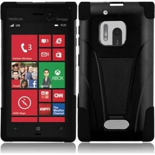 INSTEN For Nokia Lumia 928 T Stand Case Black /Black Accessories