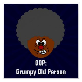 Senior Citizen Voters Vote GOP Grumpy Old People Print