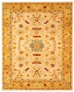 Safavieh AN543C 12 Feet by 18 Feet Anatolia Collection Handmade Hand Spun Wool Area Rug, Ivory and Gold