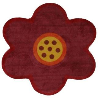 LA Rug Inc. Fun Time Shape Pink Poppy 39 in. x 39 in. Area Rug FTS 021P 3939