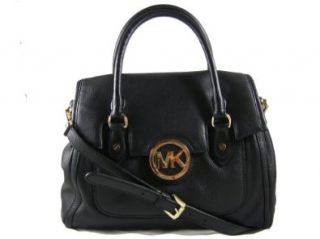 Michael Kors Black Leather Margo LG Shoulder Satchel Tote Handbag Shoes