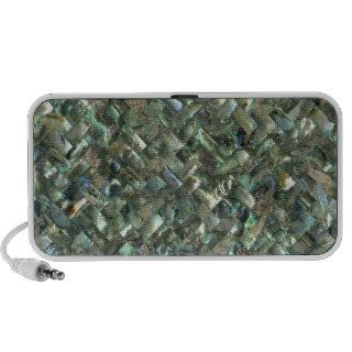 Mother of Pearl Mosaic Jade Green Marble Tile Oil Notebook Speakers