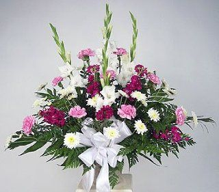 Perfect Grace Sympathy Flower Bouquet  Fresh Cut Format Mixed Flower Arrangements  Grocery & Gourmet Food