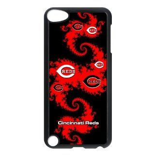 Diystore Fitted IPod Touch 5th case MLB Cincinnati Reds Artistic Black Red Dragon logo back covers   Players & Accessories