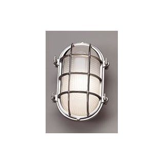 Norwell Lighting 1101 BC FR Brushed Chrome with Frosted Glass Mariner Contemporary / Modern 1 Light Outdoor Wall or Ceiling Fixture from the Mariner Collection   Wall Porch Lights
