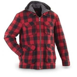 Guide Gear Plaid Work Jacket, RED PLAID, M Work Utility Outerwear Clothing