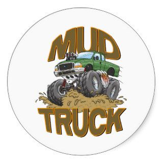 Mud Truck Ford Round Sticker