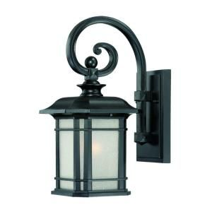 Acclaim Lighting Somerset Collection Wall Mount 1 Light Outdoor Matte Black Light Fixture 8102BK