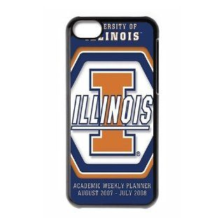 WY Supplier Popular NCAA Illinois Fighting Illini Logo of Apple iphone 5c phone case, Seal 575, Illinois Fighting Illini Apple iphone 5c Premium Hard Plastic Case Covers Cell Phones & Accessories