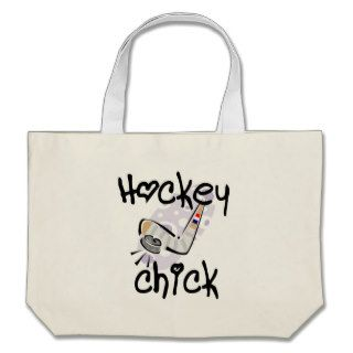 Hockey Chick T shirts and Gifts Canvas Bag