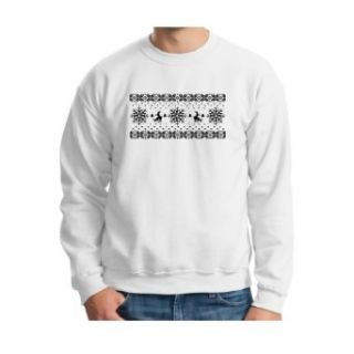 Humping Reindeer Funny Ugly Sweater Party Design Crewneck Sweatshirt Novelty Athletic Sweatshirts Clothing