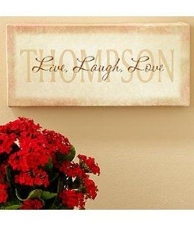 Wedding Gifts   Personalized Live, Laugh, Love Canvas Wall Art   Tapestries
