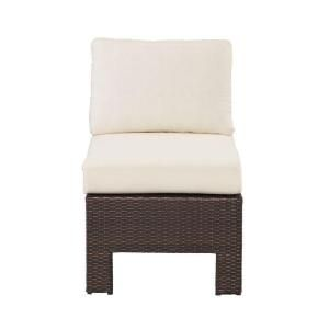 Hampton Bay Beverly Patio Sectional Middle Chair with Bare Cushion 55 510233M