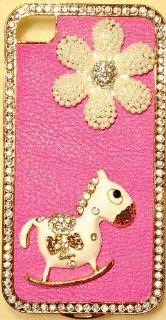 3D ROCKING HORSE Deluxe Case for iPhone 4 & iPhone 4S High Quality Crystals Cover by iPhashon Cell Phones & Accessories