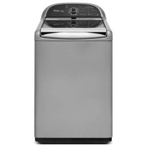 Whirlpool Cabrio Platinum 4.8 cu. ft. High Efficiency Top Load Washer with Steam in Chrome Shadow, ENERGY STAR WTW8900BC