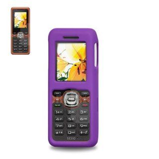 Fashionable Perfect Fit Hard Protector Skin Cover Cell Phone Case for KYOCERA DOMINO S1310 MetroPCS   Purple Cell Phones & Accessories