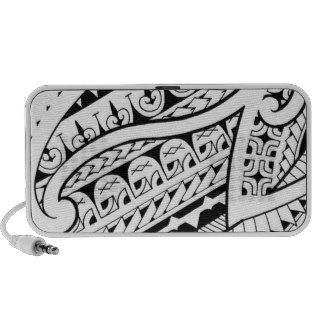modern contemporary tattoo design Polynesia tribe Notebook Speaker