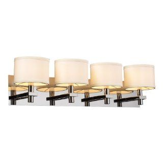 PLC Lighting 584 PC 4 Light Vanity, Concerto Collection, Polished Chrome Finish   Wall Sconces