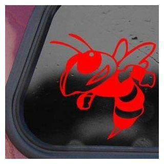 Bumble Bee Wasp Cartoon Red Decal Sticker Laptop Die cut Red Decal Sticker   Decorative Wall Appliques