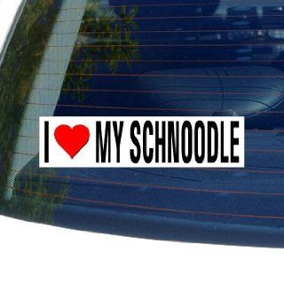 I Love Heart My SCHNOODLE   Dog Breed   Window Bumper Sticker Automotive