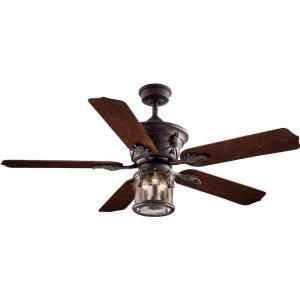 Hampton Bay Milton 52 in. Indoor/Outdoor Oxide Bronze Patina Ceiling Fan AC370 OBP