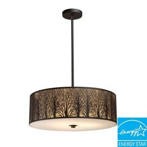 Titan Lighting 5 Light Aged Bronze Pendant TN 5030