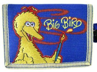 Sesame Street Painter Big Bird Wallet   Kids Trifold Big Bird Money Holder Toys & Games