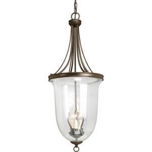 Progress Lighting Seeded Glass Collection 6 Light Antique Bronze Foyer Pendant P3754 20