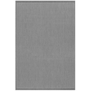 Recife Saddle Stitch Grey Rug (5'10 x 9'2) COURISTAN INC 5x8   6x9 Rugs