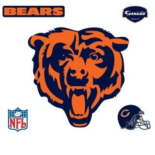 Fathead Chicago Bears Logo Wall Decal  Sports Fan Wall Banners  Sports & Outdoors