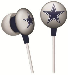 Dallas Cowboys NFL Team Logo iHip Ear buds (iPod, iPad, iPhone Compatible)  Sports Fan Headphones  Sports & Outdoors