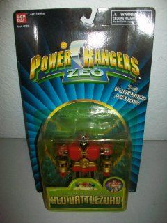 "Power Rangers Zeo Bandai 1996 5"" Red Battlezord Megazord Zord action figure MOSC MOC Toys & Games"