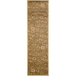 Safavieh Lyndhurst Green/Multi 2 ft. 3 in. x 12 ft. Area Rug LNH552 5291 212