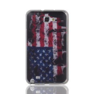 Best Smoke Mist Retro USA American Flag soft TPU case cover for Samsung Galaxy Note i9220 N7000 Cell Phones & Accessories