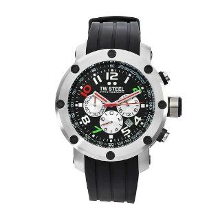 TW Steel Men's TW607 Dario Franchitti edition Black Rubber Chronograph Dial Watch TW Steel Watches