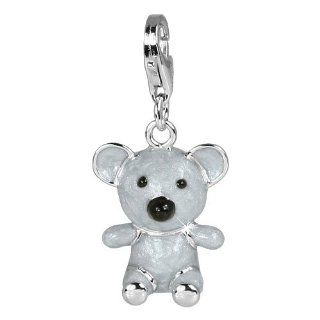 SilberDream Charm koala bear enamel, 925 Sterling Silver Charms Pendant with Lobster Clasp for Charms Bracelet, Necklace or Charms Carrier FC608 SilberDream Jewelry