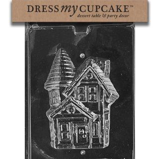 Dress My Cupcake DMCH097B Chocolate Candy Mold, Haunted House Piece 2, Halloween Candy Making Molds Kitchen & Dining