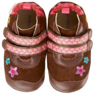 Robeez Mini Shoez Flower Boot (Infant/Toddler),Brown,3 6 Months (2 M US Infant) Shoes