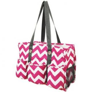 Chevron Print Travel Caddy Organizer Tote Bag (Yellow) Clothing