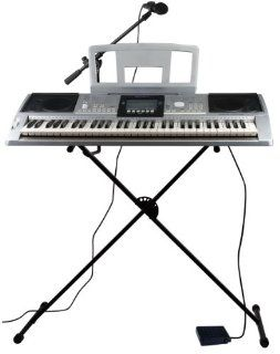 Spectrum AIL 599 iRock Digital Music Studio 61 Note Electric Keyboard with Full Accessories Pack, Stand and Mic Boom Musical Instruments