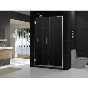 DreamLine Unidoor 58   59 in. x 72 in. Frameless Hinge Shower Door in Brushed Nickel SHDR 20587210 04