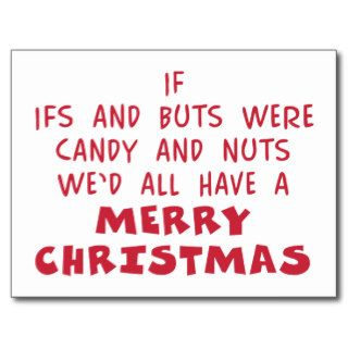 Candy & Nuts Merry Christmas   Humor Gift Postcard
